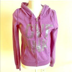 Victoria's Secret Pink sequin purple hoodie
